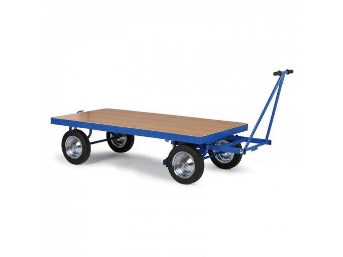 Plošinový vůz s ojí bez bočnic, dušová kola