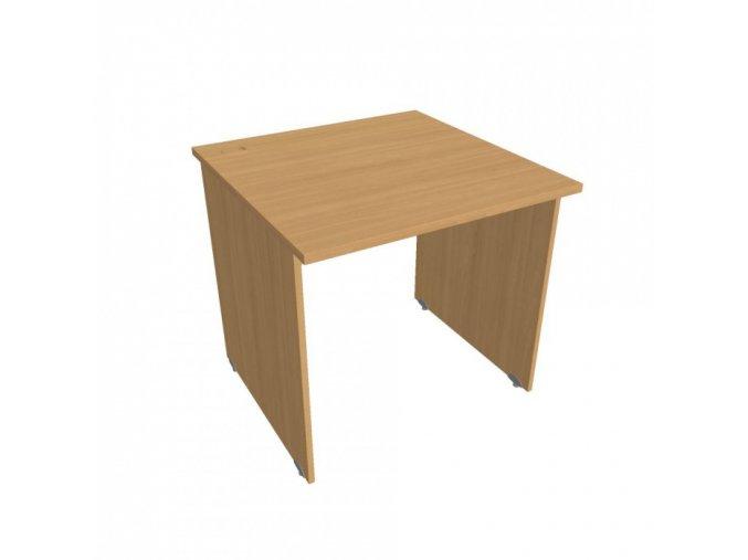 Kancelářský pracovní stůl UNI, rovný, 800 x 800 mm, buk