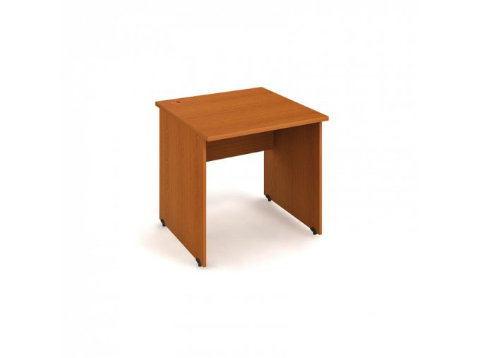 Kancelářský pracovní stůl UNI, rovný, 800 x 800 mm, třešeň