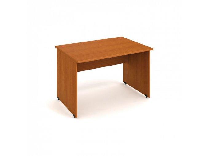 Kancelářský pracovní stůl UNI, rovný, 1200 x 800 mm, třešeň