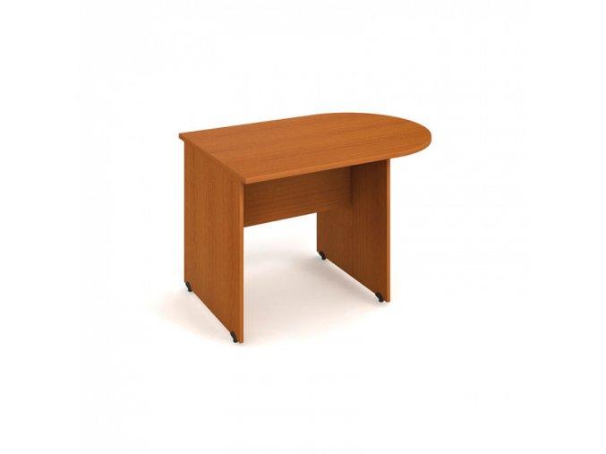 Jednací stůl UNI ukončený obloukem, třešeň