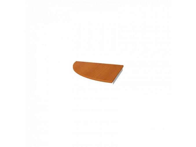 Deska doplňkového stolu UNI, 90°, levá, třešeň