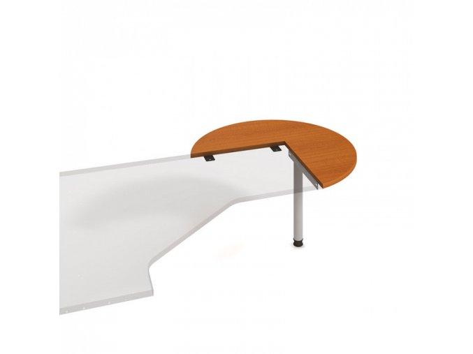 Doplňkový stůl UNI - kruh, pravý, třešeň