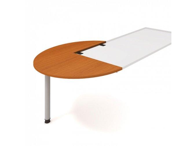 Doplňkový stůl UNI, levý, léta napříč, třešeň