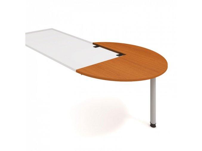 Doplňkový stůl UNI, pravý, léta napříč, třešeň