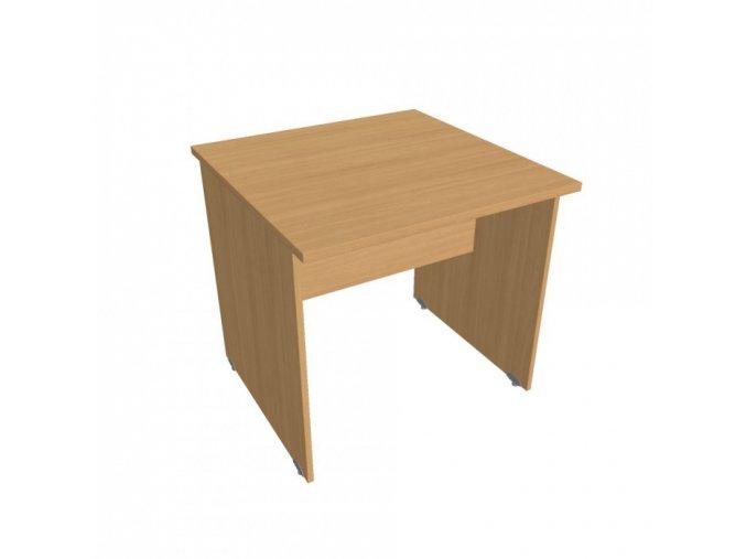 Stůl jednací rovný UNI, 800 x 800 x 755 mm, buk