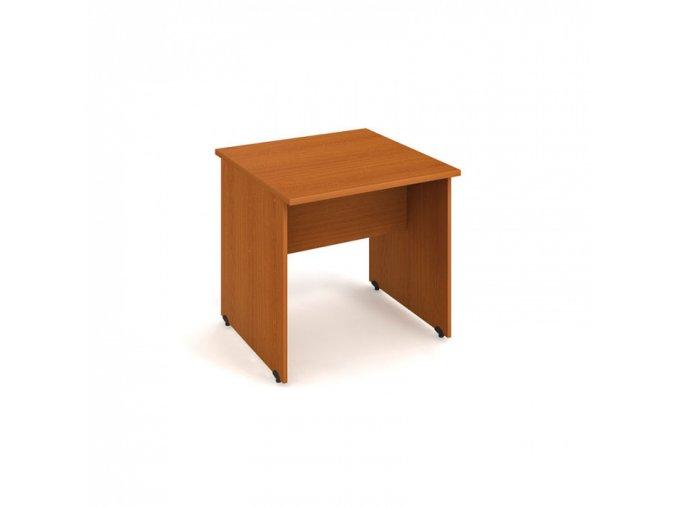Stůl jednací rovný UNI, 800 x 800 x 755 mm, třešeň