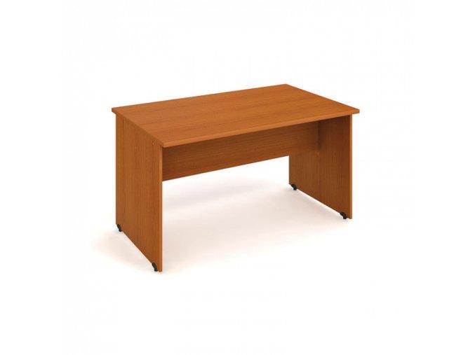 Stůl jednací rovný UNI, 1400 x 800 x 755 mm, třešeň