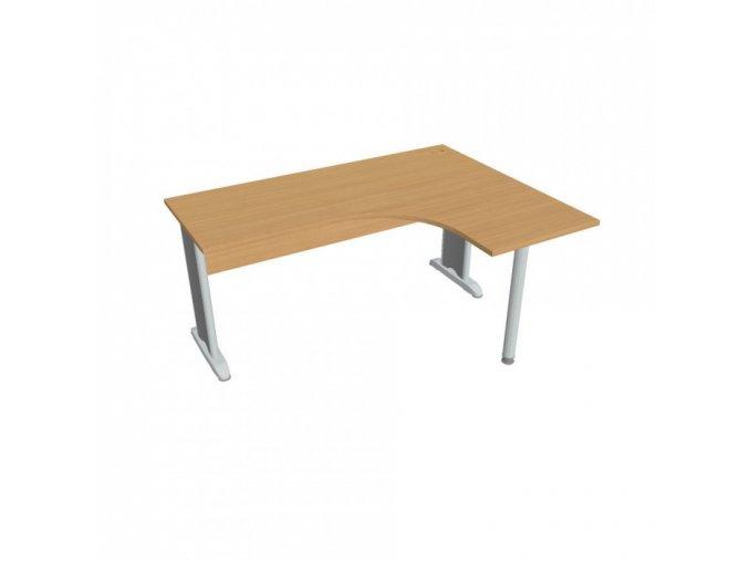 Rohový kancelářský psací stůl SELECT, 1600 x 1200 mm, levý, buk