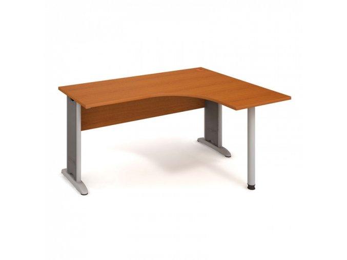 Rohový kancelářský psací stůl SELECT, 1600 x 1200 mm, levý, třešeň
