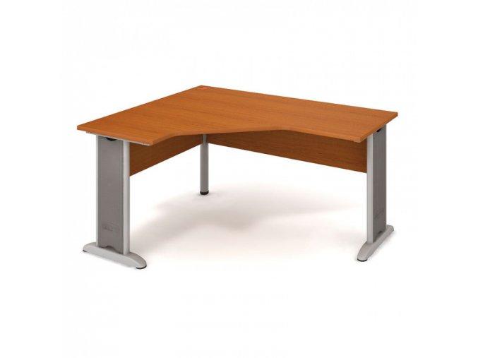 Rohový psací stůl SELECT, pravý, dezén buk