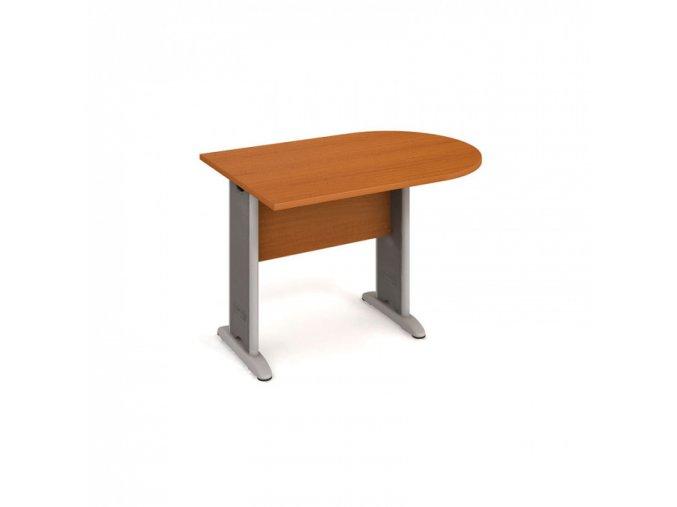 Stůl jednací ukončený obloukem SELECT, 1200 x 800 x 55 mm, třešeň