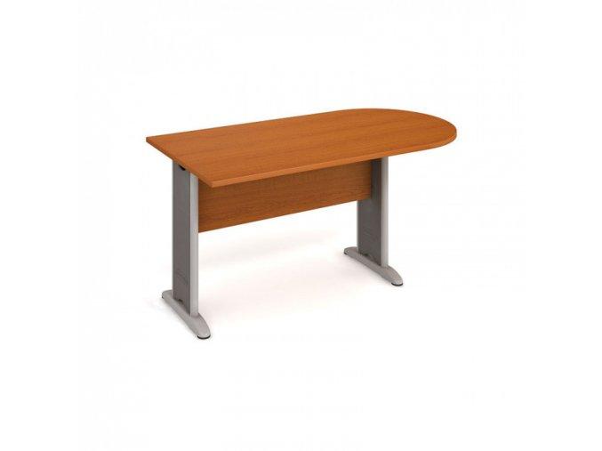 Stůl jednací ukončený obloukem SELECT, 1600 x 800 x 755 mm, třešeň