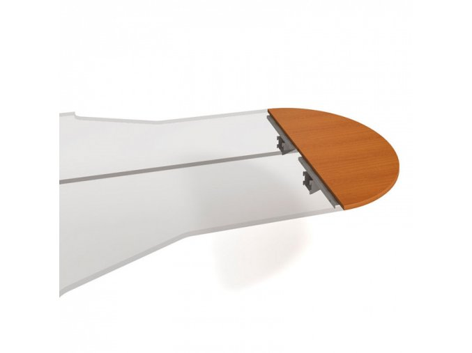 Stůl zakončovací oblouk SELECT, 1600 x 600 x 755 mm, třešeň