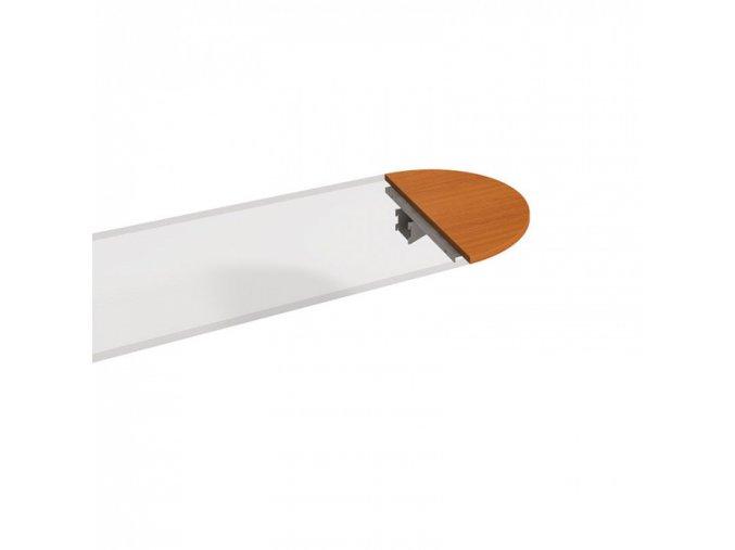 Stůl zakončovací oblouk SELECT, 800 x 400 x 755 mm, třešeň