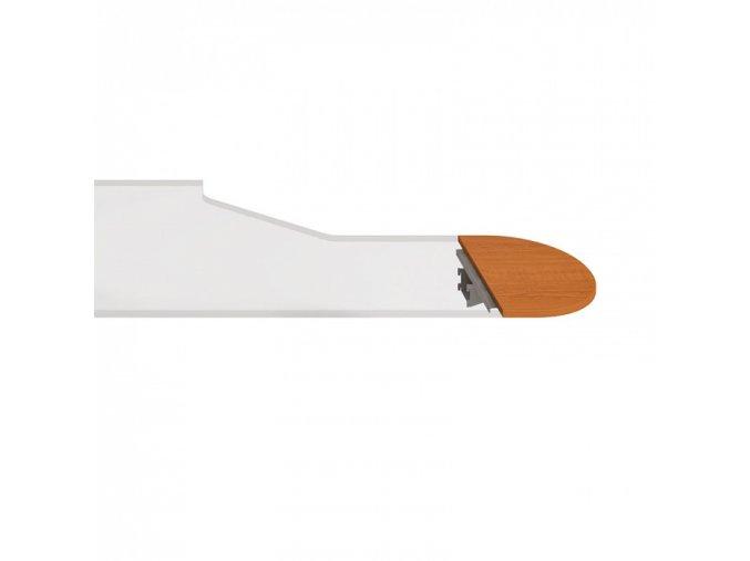 Stůl zakončovací oblouk SELECT, 600 x 400 x 755 mm, buk