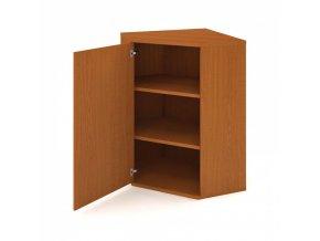 Rohová skříň zavírací s dveřmi SELECT, levá, 800 x 400 x 1152 mm, třešeň