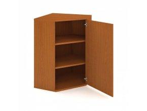 Rohová skříň zavírací s dveřmi SELECT, pravá, 800 x 400 x 1152 mm, třešeň