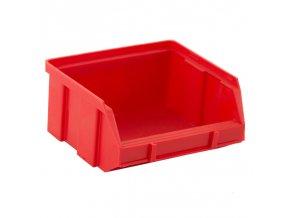 Plastové boxy, 100 x 95 x 50 mm, červené