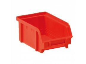 Plastové boxy, 103 x 166 x 73 mm, červené