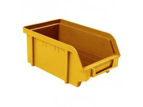 Plastové boxy, 103 x 166 x 73 mm, žlutooranžová