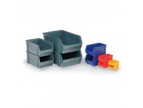Plastové boxy, 205 x 335 x 149 mm, modré