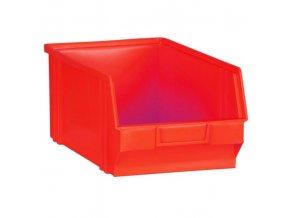 Plastové boxy, 205 x 335 x 149 mm, červené