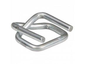 Ocelová spona pro PP/PES pásky, pokovená, 19 mm, 1000 ks