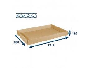 Skládací víko pro kartonový Eurobox 1200x800 mm, 5 ks
