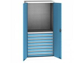 Zásuvková skříň KOVO, 1x police, 8x zásuvka