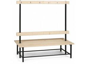Šatní lavička s věšáky - oboustranná