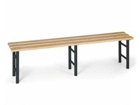 Šatní lavička, sedák - latě, nohy antracit, 2000 mm