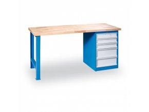 Stůl dílenský GÜDE, 1200 x 685 mm, 5x zásuvka