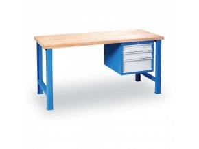 Stůl dílenský GÜDE, 1200 x 685 mm, 3x zásuvka
