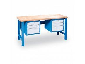 Stůl dílenský GÜDE, 1700 x 685 mm, 6x zásuvka