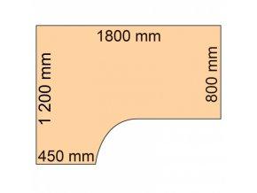 Rohový psací stůl CLASSIC A, levý, dezén divoká hruška