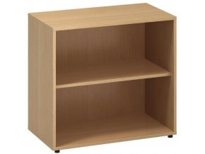 Kancelářská skříň bez dveří CLASSIC, 800 x 450 x 735 mm, buk