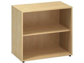 Kancelářská skříň bez dveří CLASSIC, 800 x 450 x 735 mm, divoká hruška