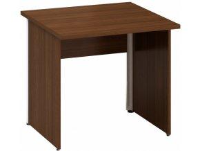 Kancelářský psací stůl CLASSIC A, 800 x 800 mm, ořech