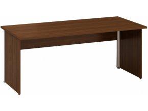 Kancelářský psací stůl CLASSIC A, 1800 x 800 mm, ořech