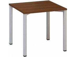 Kancelářský psací stůl CLASSIC B, 800 x 800 mm, dezén ořech