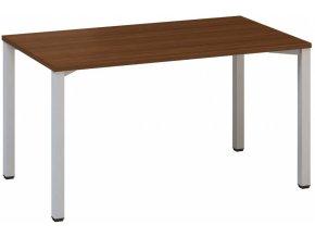 Kancelářský psací stůl CLASSIC B, 1400 x 800 mm, ořech