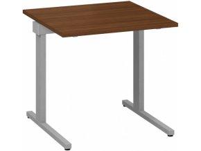 Kancelářský psací stůl CLASSIC C, 800 x 800 mm, ořech