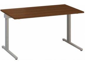 Kancelářský psací stůl CLASSIC C, 1400 x 800 mm, dezén ořech