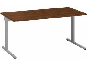 Kancelářský psací stůl CLASSIC C, 1600 x 800 mm, dezén ořech
