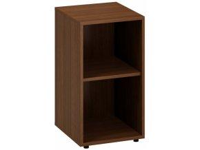 Kancelářská skříň bez dveří CLASSIC A, 400 x 450 x 735 mm, ořech