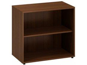 Kancelářská skříň bez dveří CLASSIC A, 800 x 450 x 735 mm, ořech