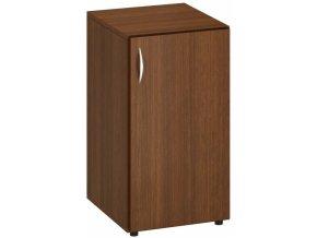 Kancelářská skříň s pravými dveřmi CLASSIC, 400 x 470 x 735 mm, ořech