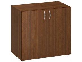 Kancelářská skříň CLASSIC A, 800 x 470 x 735 mm, ořech