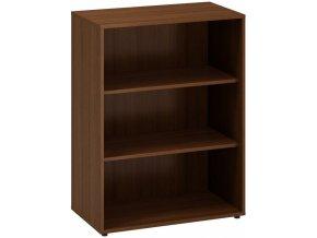 Kancelářská skříň bez dveří CLASSIC, 800 x 450 x 1063 mm, ořech